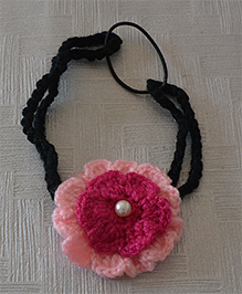 Daffodils Dual Color Headband With Pearl - Magenta & Pink