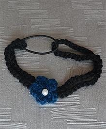 Daffodils Flower Headband With Pearl - Blue