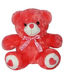 Soft Buddies Teddy Bear Soft Toy Red - Height 25 Cm