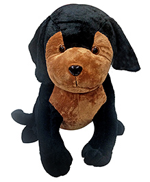 Soft Buddies Puppy Soft Toy Brown Black - Height 53 Cm