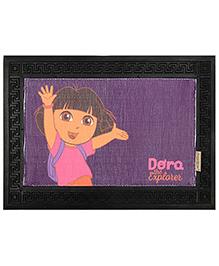 Saral Home Dora Anti Slip Rubber Door Mat - Purple