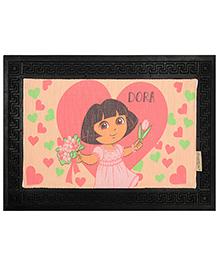 Saral Home Dora Anti Slip Rubber Door Mat - Peach