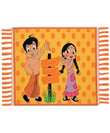 Saral Home Chhota Bheem Multi Purpose Cotton Rug - Orange