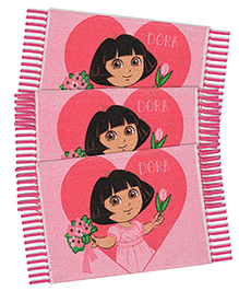 Saral Home Dora Theme Rugs Pack Of 3 - Pink