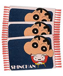 Saral Home Shinchan Theme Rugs Combo Of 3 - Navy