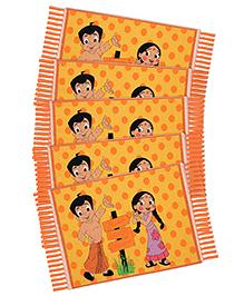 Saral Home Chotta Bheem Theme Rugs Combo Of 5 - Yellow