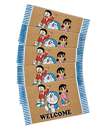 Saral Home Doraemon Theme Rugs Pack Of 5 - Beige Blue