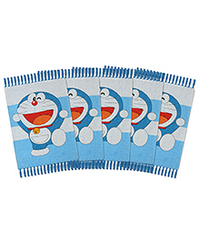 Saral Home Doraemon Theme Rugs Pack Of 5 - Light Blue
