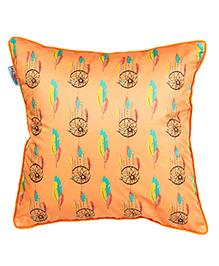 The Crazy Me Cushion Cover Dream Catcher Print - Orange