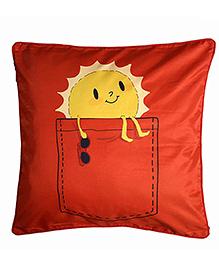 The Crazy Me Cushion Cover Sunshine Print - Orange