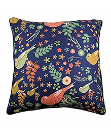 The Crazy Me Cushion Cover Birds Pattern Print - Blue