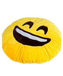 The Crazy Me Laughing Emoticon Cushion - Yellow