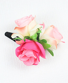 Asthetika Floral Tic Tac Hair Clip - Dark Pink