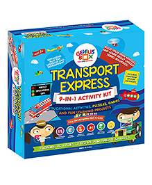 Genius Box 9 In 1 Activity & Learning Transport Express Educational Kit