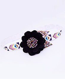 Little Tresses Partywear Double Layer Bow On Alligator Clip - Black And Multicolor