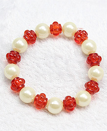 Milyra Bracelet Pearls & Beads - Red White