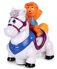 Dr.Toy Musical Toy Horse - White Orange