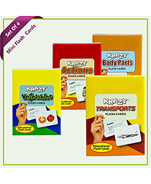 Krazy Flash Cards Combo Mini Set Of 4 - Yellow Red