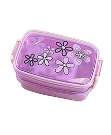 Syga Elegant Environmental Friendly Bento Box Classic Double-layer Lunchbox Food Container Set - Purple