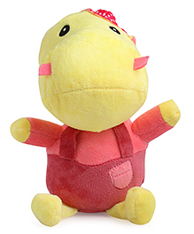 Skylofts Happy Hippo Soft Toy Pink - Height 18 Cm