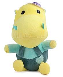 Skylofts Happy Hippo Soft Toy Green - Height 18 Cm