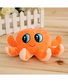 Skylofts Octopus Soft Toy Orange - Length 18 Cm