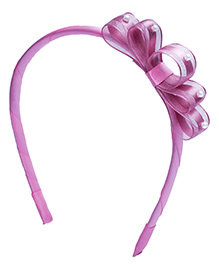 Ribbon Candy Hair Band Bow Applique - Pink