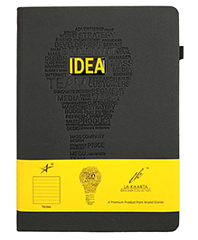 La Kaarta A5 Size Notebook With Hard Bound Cover Yellow - 224 Pages