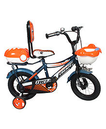 Cosmic Force Kids Bicycle Orange Blue - 12 Inches