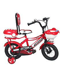 Cosmic Force Kids Bicycle Red - 12 Inches