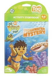 Leap Frog - Activity Storybook - Go Nick Jr Diego Go Underwater Mystery