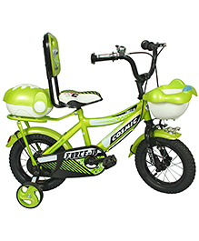 Cosmic Force Kids Bicycle Green - 12 Inches