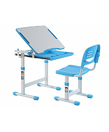 Kidomate Table & Chair With Height Adjustment - Blue