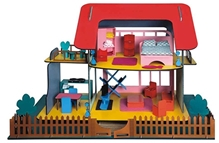 Ecojoy Wooden Doll House Multicolor
