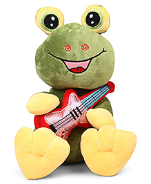 Starwalk Cute Frog Plush With Guitar Soft Toy Green - Height 27 Cm