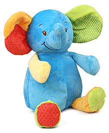 Starwalk Cute Baby Elephant Plush Soft Toy Blue - Height 30 Cm
