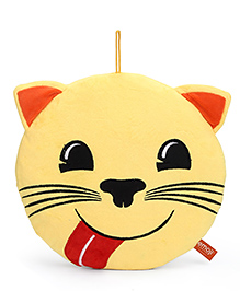 My Baby Excels Emoji Cat Yummy Food Face Plush Soft Toy Yellow - Height 30 Cm
