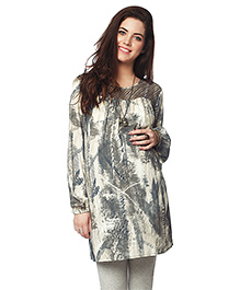 Nine Full Sleeves Maternity Tunic - Grey