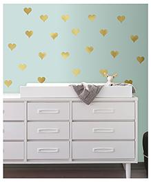 Asian Paints Hearts Wall Sticker - Golden