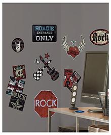 Asian Paints Rock-n-Roll Wall Sticker - Black