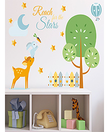 Asian Paints Reach For The Stars Wall Sticker - Green Yellow