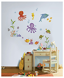 Asian Paints Adventures Under The Sea Wall Sticker - Multi Color