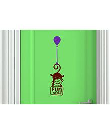 Asian Paints Door Monkey Wall Sticker - Maroon