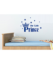 Asian Paints Baby Boy Our Little Prince Wall Sticker - Blue