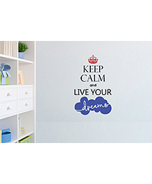 Asian Paints Keep Calm Quotes Live Your Dreams Wall Sticker - Multi Color