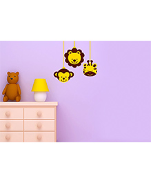 Asian Paints Hanging Animals Wall Sticker - Yellow