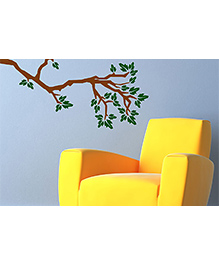 Asian Paints Branch Wall Sticker - Brown Green