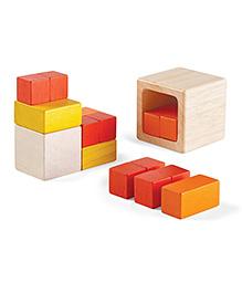 Plan Toys Wooden Fraction Cubes - Multi Color