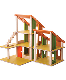 Plan Toys Wooden Chalet Doll House - Multi Color