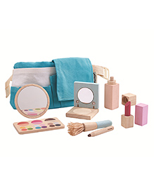 Plan Toys Wooden Makeup Set Multicolour - Pack Of 9 Pieces